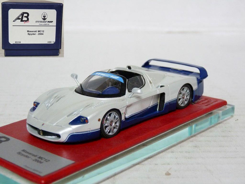 Bbr Autobarn Abb15 1 43 2004 Maserati Mc12 Spyder Handmade