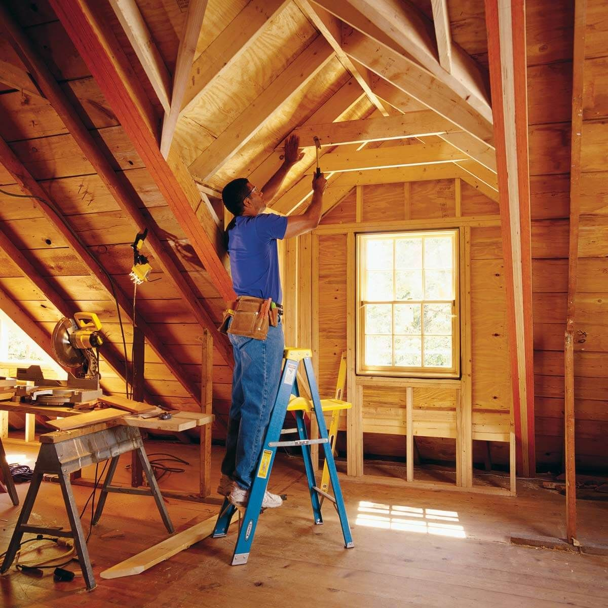 10 Speed Square Hacks Attic Renovation Attic Remodel Attic Rooms