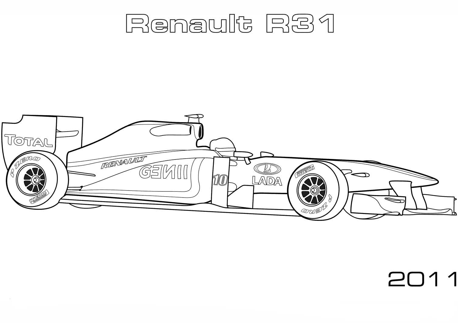 Formula One F1 Grand Prix Coloring Page Speed Racing Car Cars Coloring Pages Sports Coloring Pages Race Car Coloring Pages