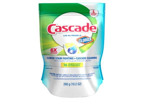 Cascade Actionpacs With Extra Bleach Action Dishwasher Detergent