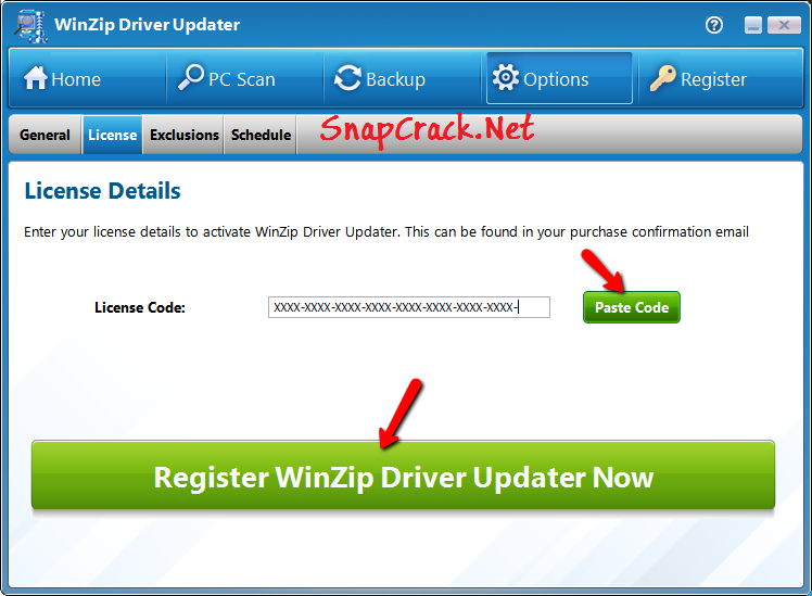 registration key winzip driver updater