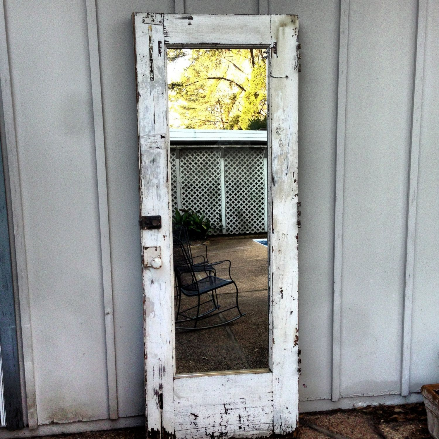 Awesome Old Door Mirror Full Length Mirror. $499.00, Via Etsy.
