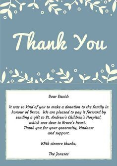 Best Funeral Thank You Cards  Funeral And Note