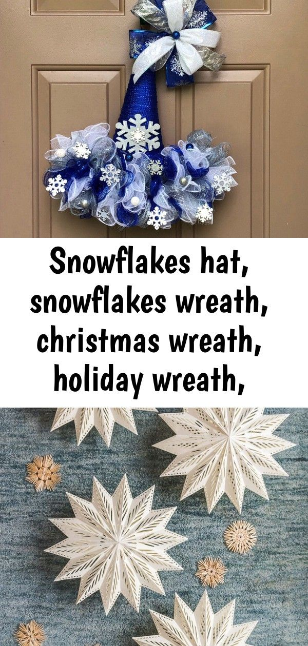 Snowflakes hat, snowflakes wreath, christmas wreath, holiday wreath, christmas door hanger, christma #hangersnowflake
