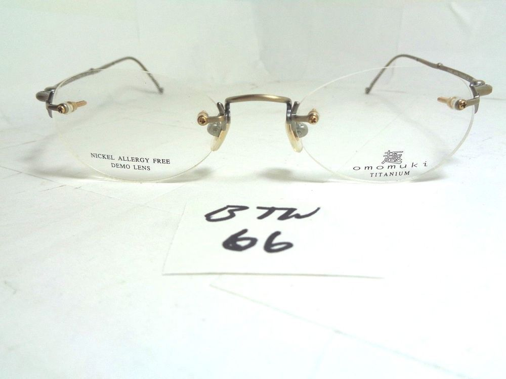 New Old Stock OMOMUKI Rimless Eyeglass Frame K004 Titanium Nickel ...