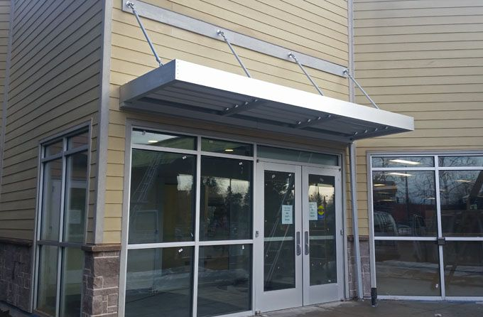 Mapes Aluminum Canopy Hanging Entrance Metal Awning Canopy Entrance