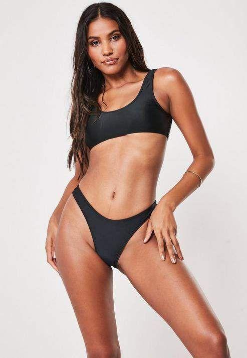 5abc64150 Missguided Black Mix And Match Super Scoop Bikini Top in 2019 | swim ...
