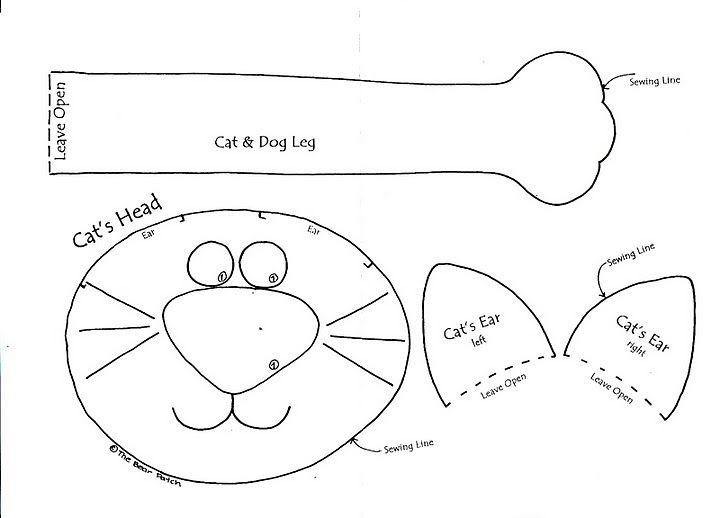 Modelo de mosaico gato | patrones muñecos | Pinterest | Gato, Molde ...