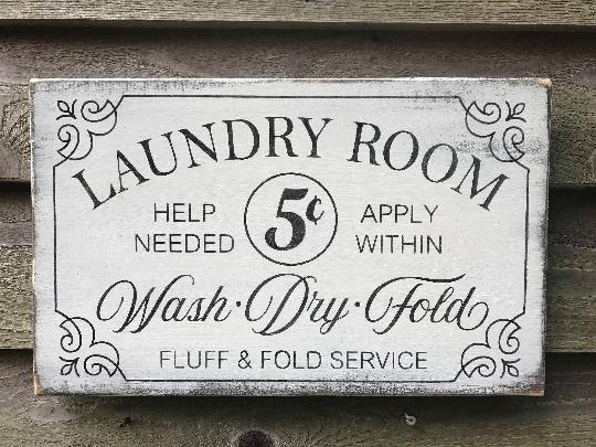 Laundry room sign, primitive laundry sign, farmhouse