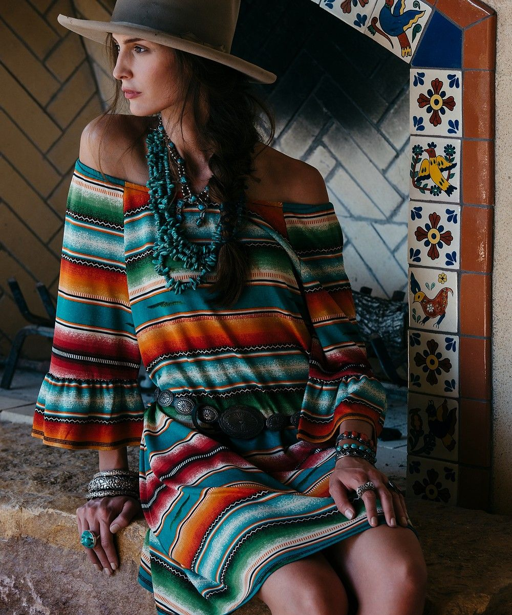 af513dad880 New Spring collection from Double D Ranchwear! Style D1153 Pachamama Serape  Dress