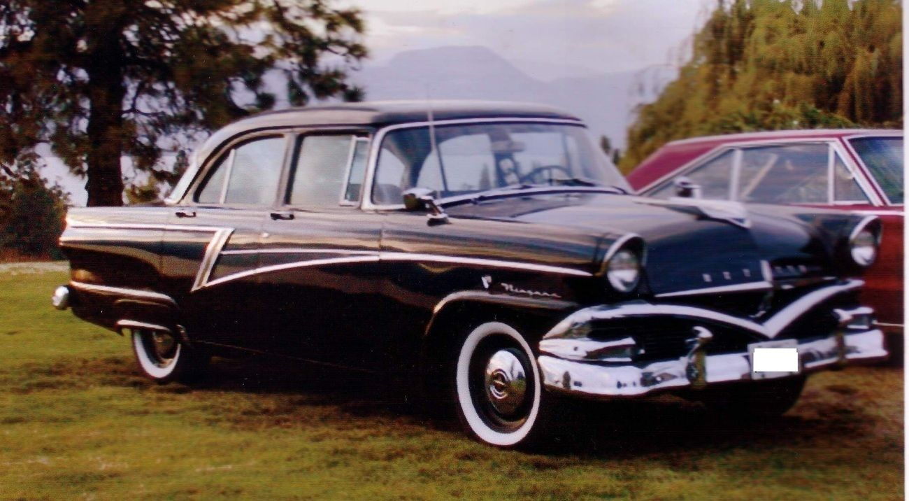 1956 Meteor Niagara 4 Dr Sedan Canadian Ford Ford America Sedan Retro Cars