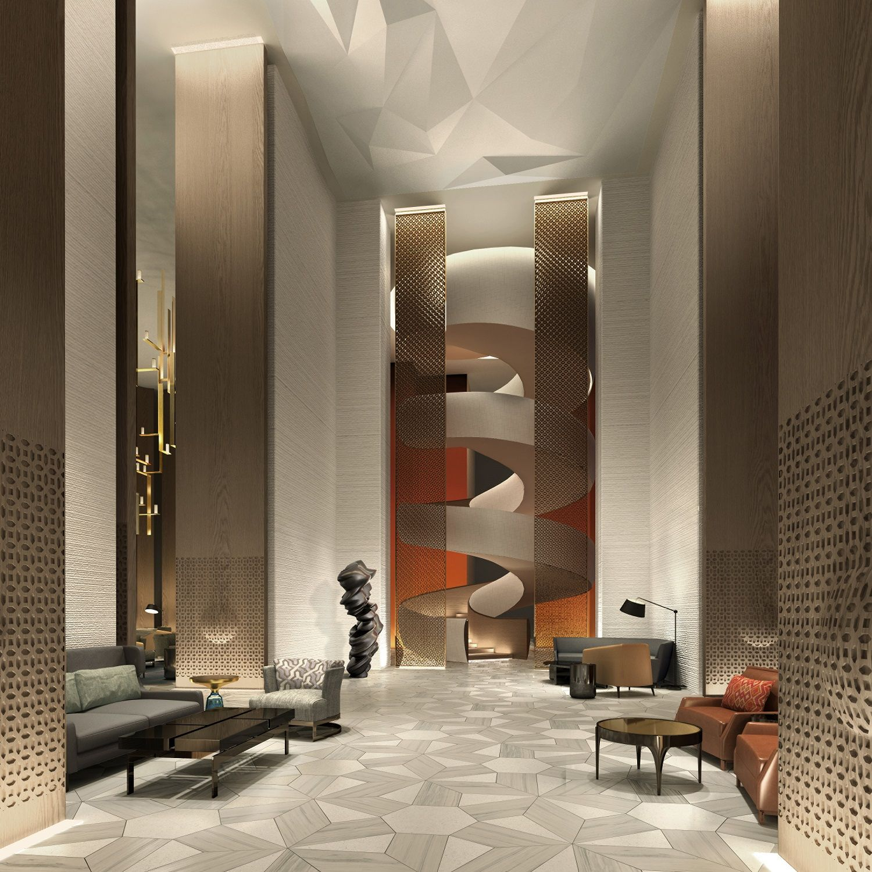 September Opening For Four Seasons Hotel Kuwait At Burj Alshaya Hotels Design Lobby Design Interior Design Projects