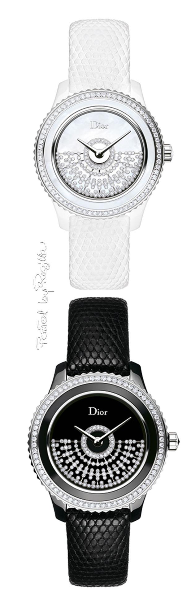 Dior Black and White diamond watches