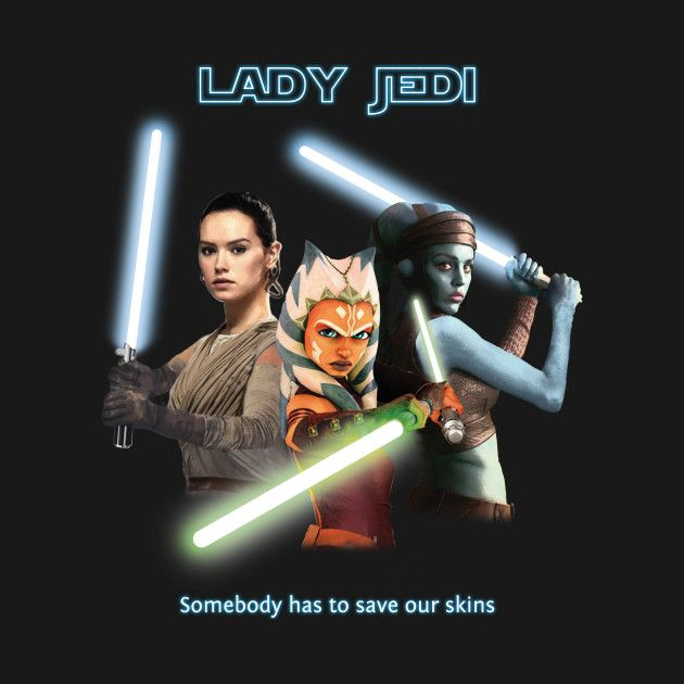 Awesome 'Lady Jedi' design on TeePublic! #StarWars #Jedi