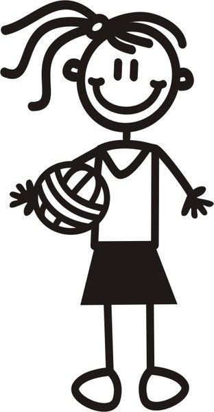 Mujer Joven Voleibol Netball Stick Figures Volleyball Images