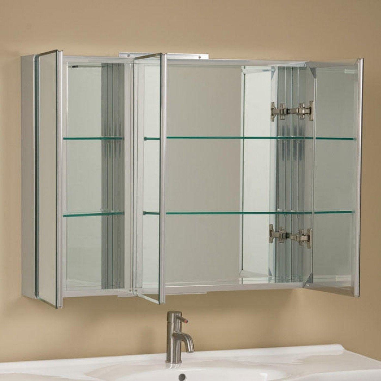 Large Mirror Bathroom Cabinet Unique Clairement Series Aluminum Tri View Medici Medicine Cabinet Mirror Bathroom Medicine Cabinet Mirror Large Medicine Cabinet