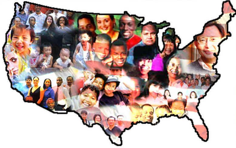 Map Of America Showing Faces Google Search Corporate Jump Bid - Map of diversity in us