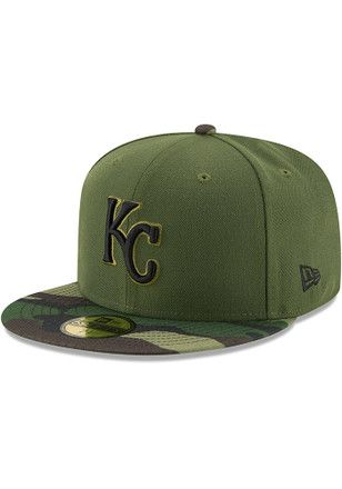 finest selection 0e2fb a713b KC Royals New Era Mens Green 2017 Memorial Day AC 59FIFTY Fitted Hat