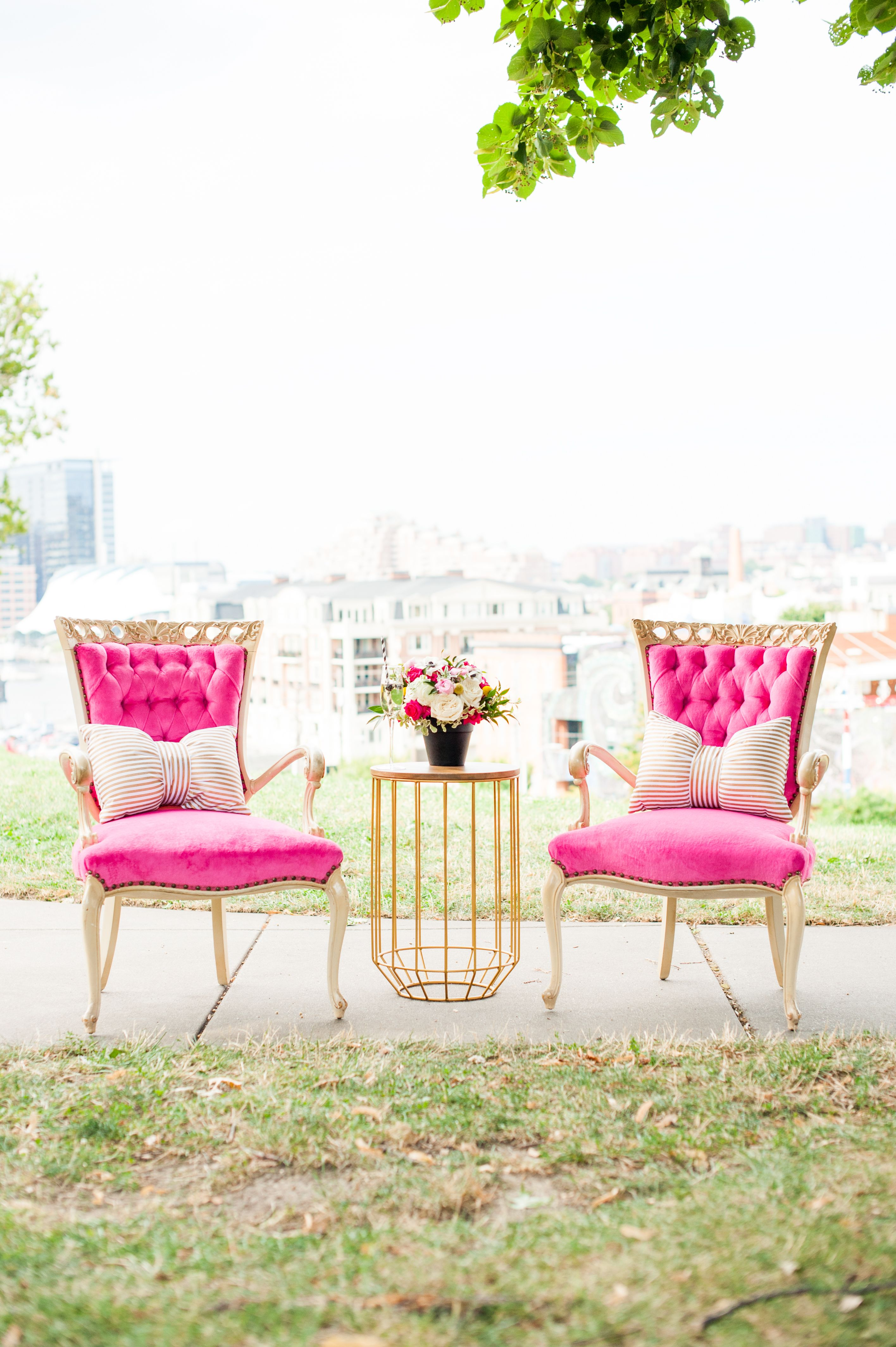 chair cover rental baltimore ashley swivel hot pink sweetheart seating wedding arrangement photography location fells point maryland rentals white glove ft louella chairs planning styling lovely bubbly events