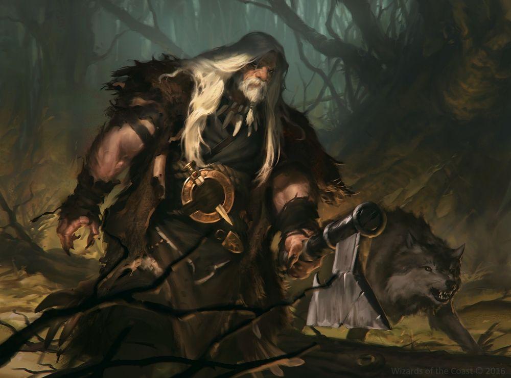 Fantasy Old Man Warrior White Hair Knife Wolf Artwork 1500x1111 Original Fantasy Dwarf Fantasy Wolf Artwork