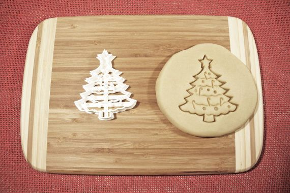 Christmas Tree Cookie Cutter Gingerbread Mold Biscuit Cake Topper