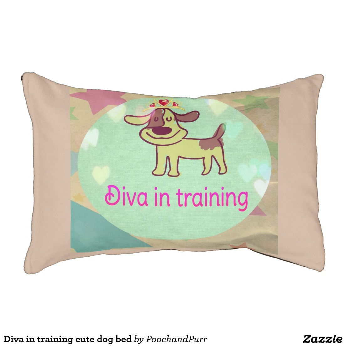 Diva in training cute dog bed small dog bed