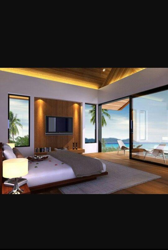 Este es mi dormitorio es bastante grande y muy luminoso - Camas muy grandes ...