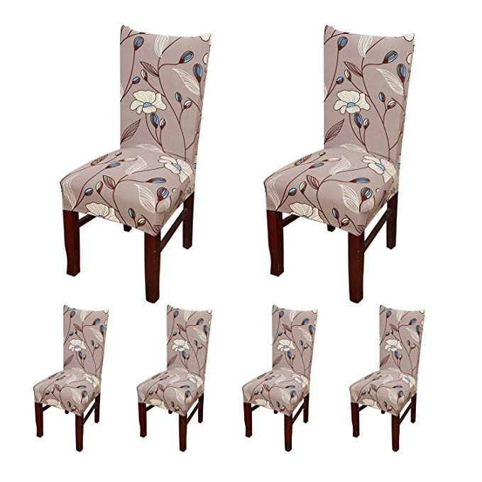 Super Shdiba 6 X Stretch Short Dining Room Chair Protector Cover Bralicious Painted Fabric Chair Ideas Braliciousco
