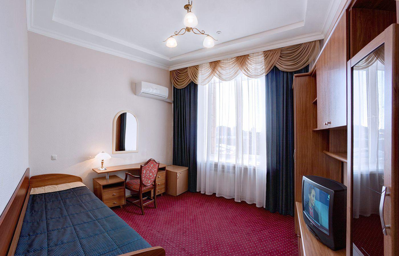 Hotel Ukraine in Kiev, Ukraine. Single Economy Room
