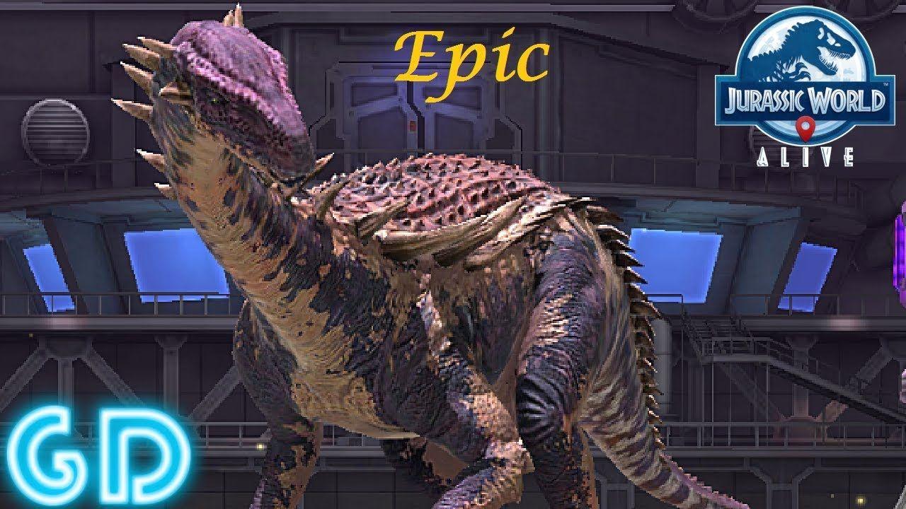 Jurassic World Alive Gameplay - Epic Nodopatosaurus Hybrid