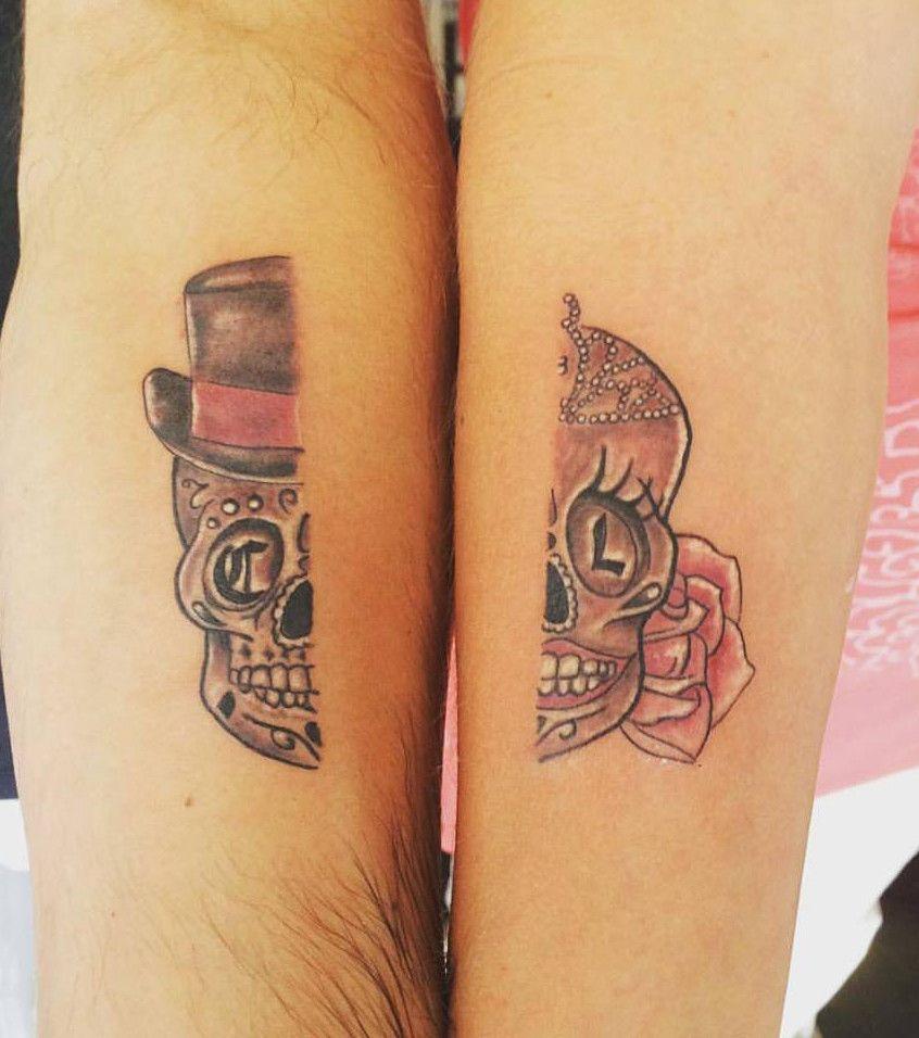 Super Tatouage couple, squelette coupé en deux | Tatouage couple, Se  YN26