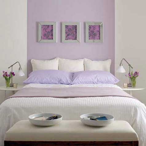 Lilac, purple and lavender are often considered great bedroom - schlafzimmer poco domäne