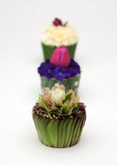 Tea Party Greeting Cards Floral Cupcakes 3