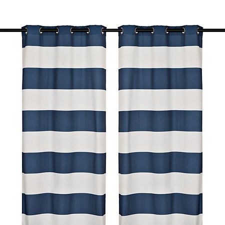 Surfside Navy Curtain Panel Set 96 In Panel Curtains Navy