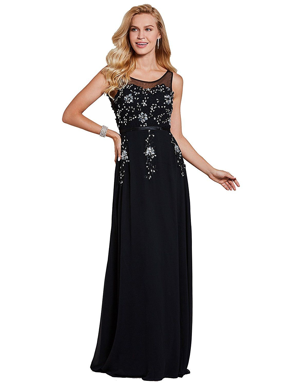 Dress for wedding evening party  Amazon Tanpell Womenus Open Back Rhinestone Long Wedding