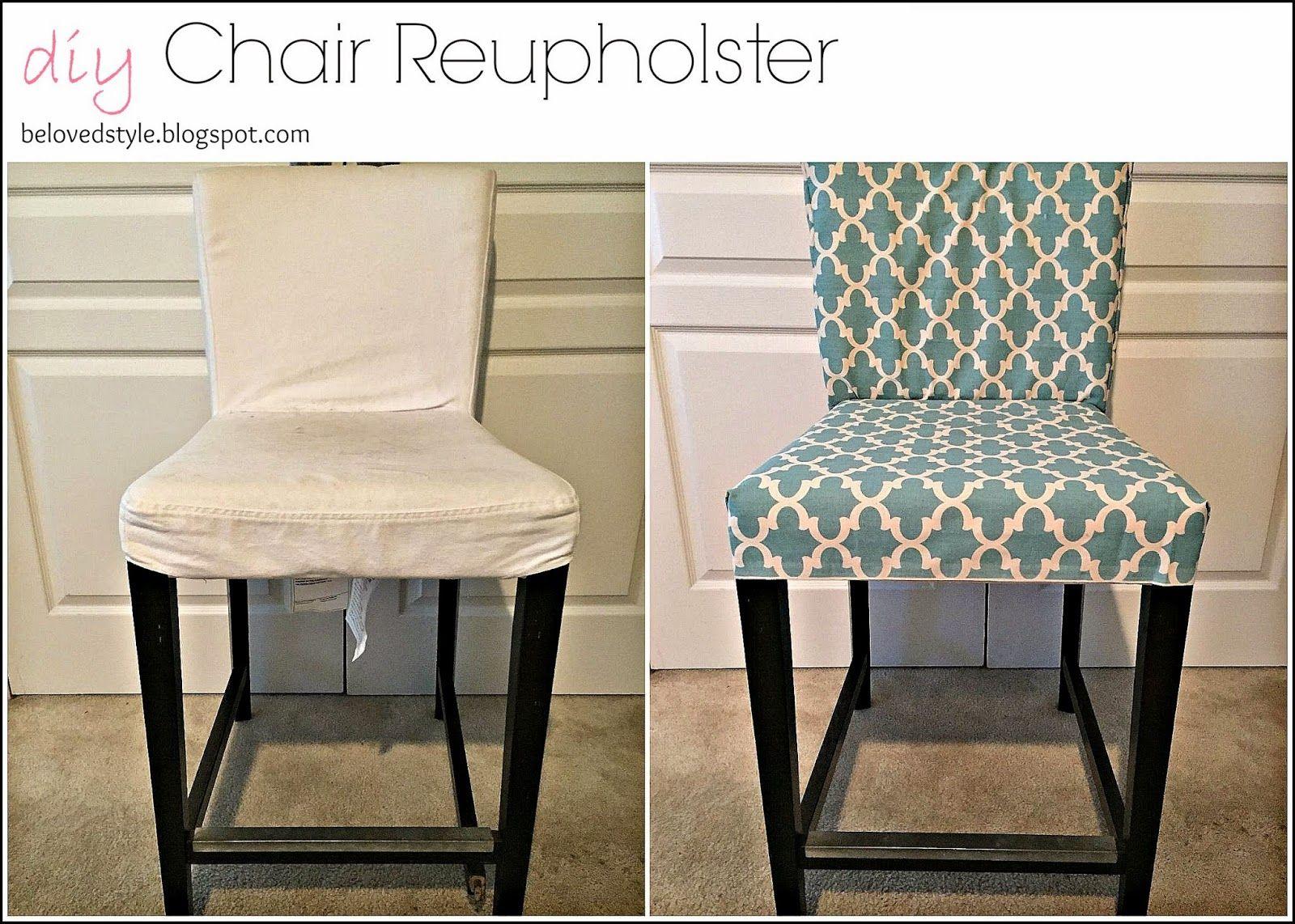 diy reupholster chair no sew