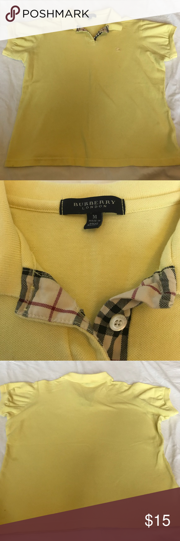 Girls Burberry T-Shirt In excellent condition! Comes from a pet free/ smoke free home. Burberry Shirts & Tops Tees - Short Sleeve