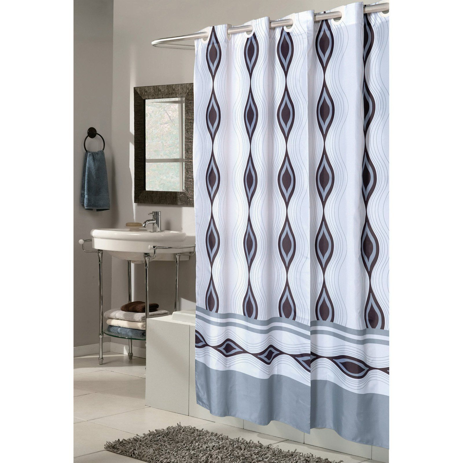 Carnation Home Fashions Ez On Grommet Style Harlequin Fabric