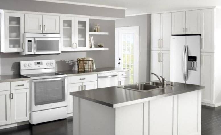 Jasa Pembuatan Kitchen Set Profesional Dapur Putih Lemari Dapur Putih Dapur Luar Ruangan