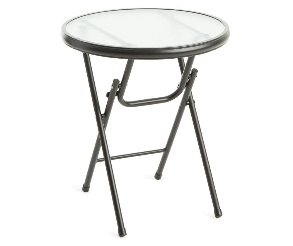 Wilson Fisher 16 Round Glass Top Folding Side Table Big Lots In 2020 Side Table Metal Garden Table Table