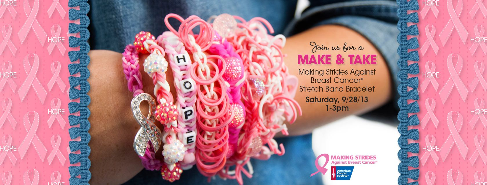 Customizable Pink Stretch Band Bracelets Make Your Own