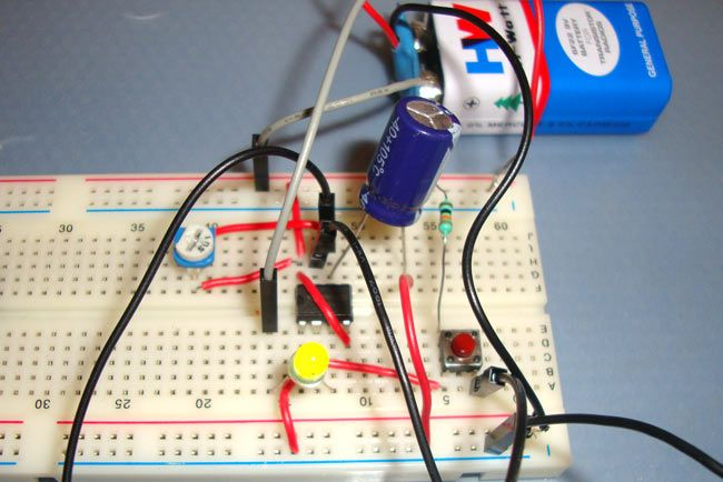 1 Minute Timer Circuit using IC 555 | 555 Timer Circuits