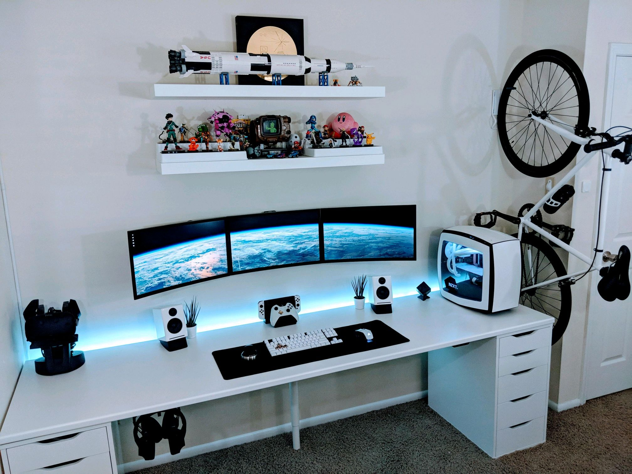 Finished building today home office setup game room - Home office setup ideas ...