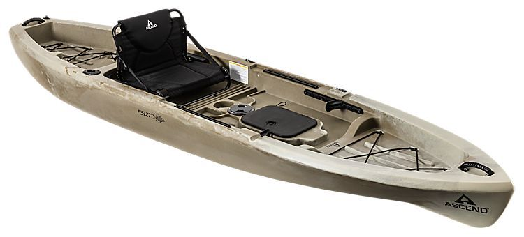 Ascend fs12t sit on top kayak desert storm bass pro for Bass pro fishing kayak