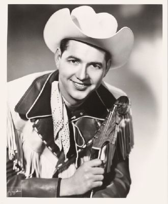 Hank Thompson, singer/songwriter, born in Waco, Tx.