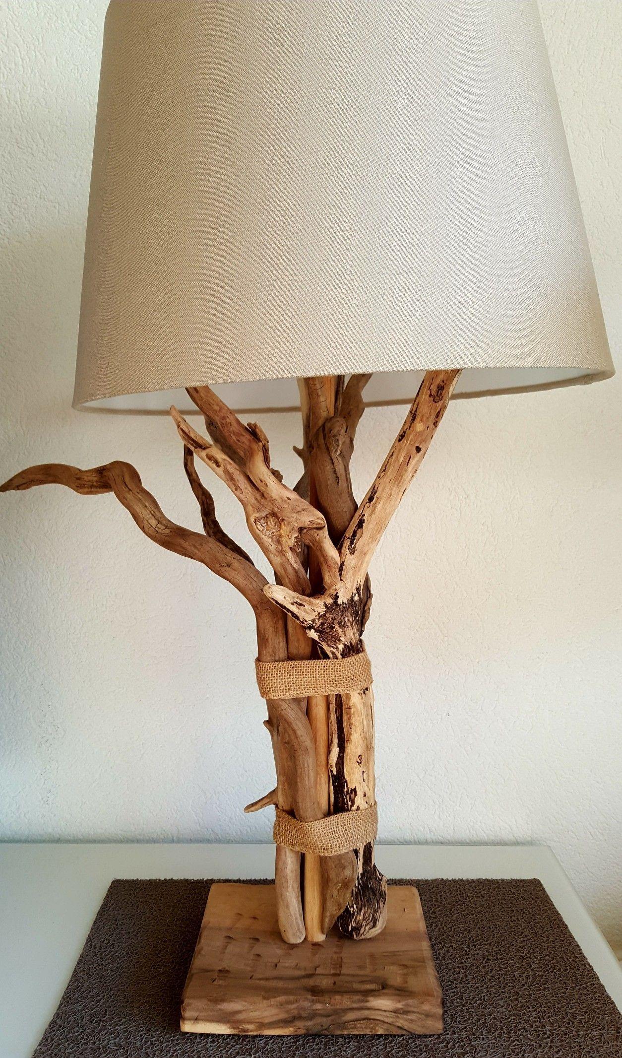 Bajour Da Comodino Moderne lampe bois flotté 80cm de haut | lampe bois, deco bois