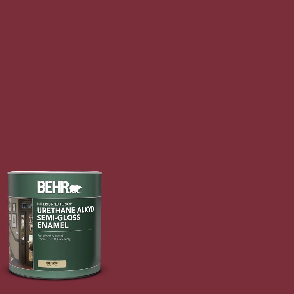 Behr 1 Qt Home Decorators Collection Hdc Cl 11 January Garnet Semi Gloss Enamel Urethane Alkyd Interior Exterior Paint 393004 Behr Marquee Behr Exterior Paint