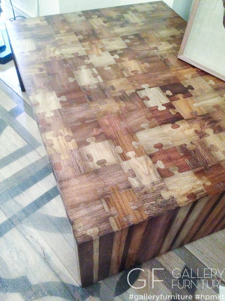 Gallery Furniture Puzzle Table. #HPMKT Finds We Love at Design ...