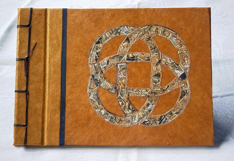 Large Handmade Journal, Blank Book, Guest Book with Celtic Knot Postage Art by BookArtsAndEphemera on Etsy