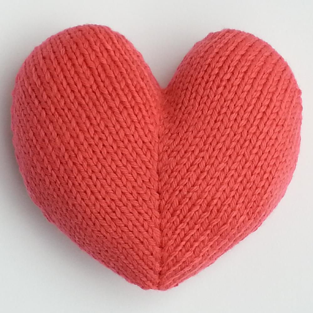Love Hearts Heart Cushion Knitting Patterns And Patterns